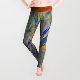 AGAVE CACTI DESERT SUNSET LANDSCAPE ART Leggings
