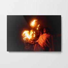 Holly Fire Metal Print