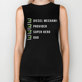 Diesel Mechanic Father Dad Funny Papa Autoshop Biker Tank