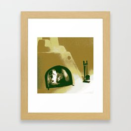 Kiva Fireplace Two Framed Art Print
