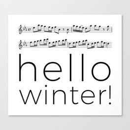 Hello winter! (white) Canvas Print