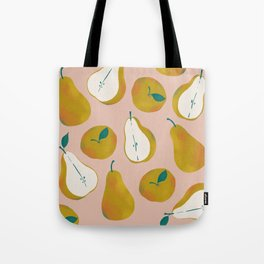 Pear Pattern Tote Bag