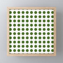 Simply Polka Dots in Jungle Green Framed Mini Art Print