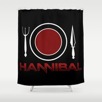 hannibal Shower Curtains featuring Hannibal by Coorz