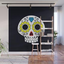 Sugar skull for a cake Wall Mural