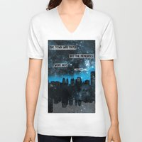 john green V-neck T-shirts featuring Paper Towns John Green Quote by denise