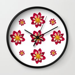 Dahlia Pinwheels Wall Clock