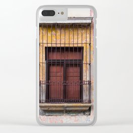 Red Window in Antigua Guatemala Clear iPhone Case