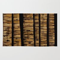 woody Area & Throw Rugs featuring woody by colli13designs