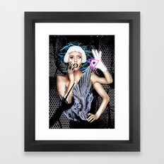 LADY OF THE ILLUMINATI Framed Art Print