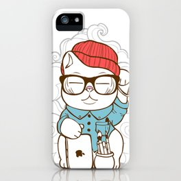 Hipster Kitty iPhone Case