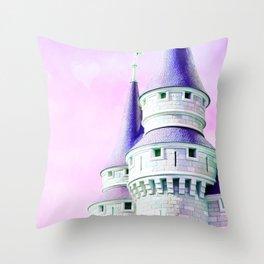 Purple Castle Throw Pillow