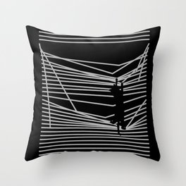 Cats and Curtains Throw Pillow