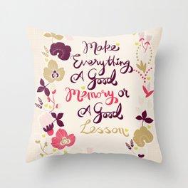 Make Everything Throw Pillow