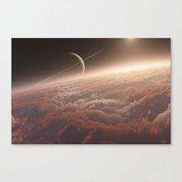 Titan: in the Bonestellosphere Canvas Print