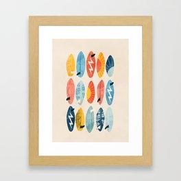 Surfboard white  Framed Art Print