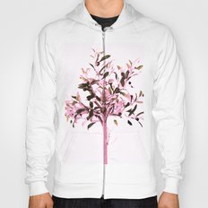 Little olive tree with pink tones on a white background Hoody