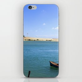 River and beach meeting on Brazil iPhone Skin