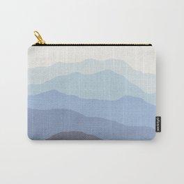 Abstract, Blue, Landscape, Scandinavian, Modern art, Art, Minimal, Wall art Print Carry-All Pouch