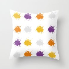 Colorful Mistakes Throw Pillow
