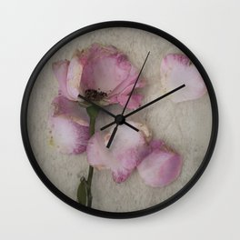 Wilted Rose Wall Clock