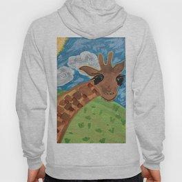 Wide Eyed Giraffe Original Painting Hoody