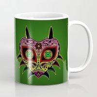 majoras mask Mugs featuring Sugarskull / Majoras mask /color by tshirtsz