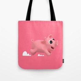 Rosa the Pig running Tote Bag