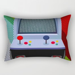 Retro Arcade Joystick Video Game Rectangular Pillow