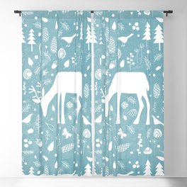 Deer in the Woods Blackout Curtain