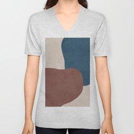 Abstract Stones Unisex V-Neck