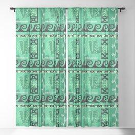 Hawaiian Pattern #1 - seafoam! Sheer Curtain