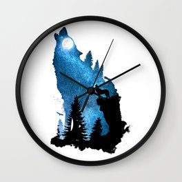 The Howling Wind Wall Clock