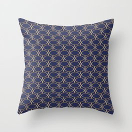 Golden Blue Depth Throw Pillow