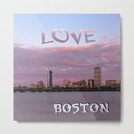 Love Boston Metal Print