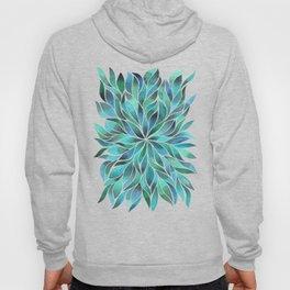 Floral Vines - Blue Green Hoody