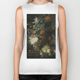 Jan van Huysum - Still life with flowers and fruits (1721) Biker Tank
