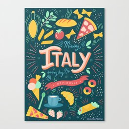 Missing Italy everyday poster Canvas Print