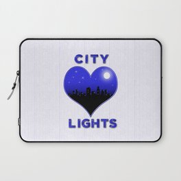 I Love City Lights Laptop Sleeve