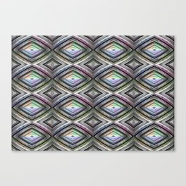 Bright symmetrical rhombus pattern Canvas Print