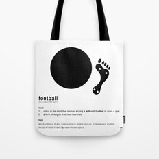 Football is Referred as Tote Bag