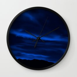 SW Midnight Blue Morning Wall Clock