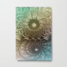 Togetherness, Fractal Art Abstract Metal Print