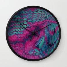 Asia Dragon Scales Wall Clock