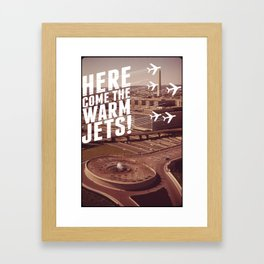 Here They Come! Framed Art Print