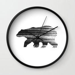 Bear vintage black Wall Clock