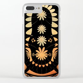 Graphic summer design Clear iPhone Case