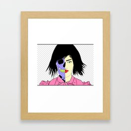 Split-Personality Framed Art Print