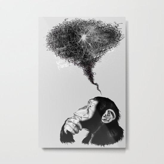 Chimpistotle Metal Print