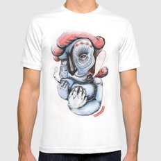 Misty Puff Mens Fitted Tee White MEDIUM